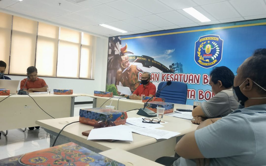 Evaluasi dan Koordinasi Kegiatan, Bakesbangpol Gelar Rapat Internal