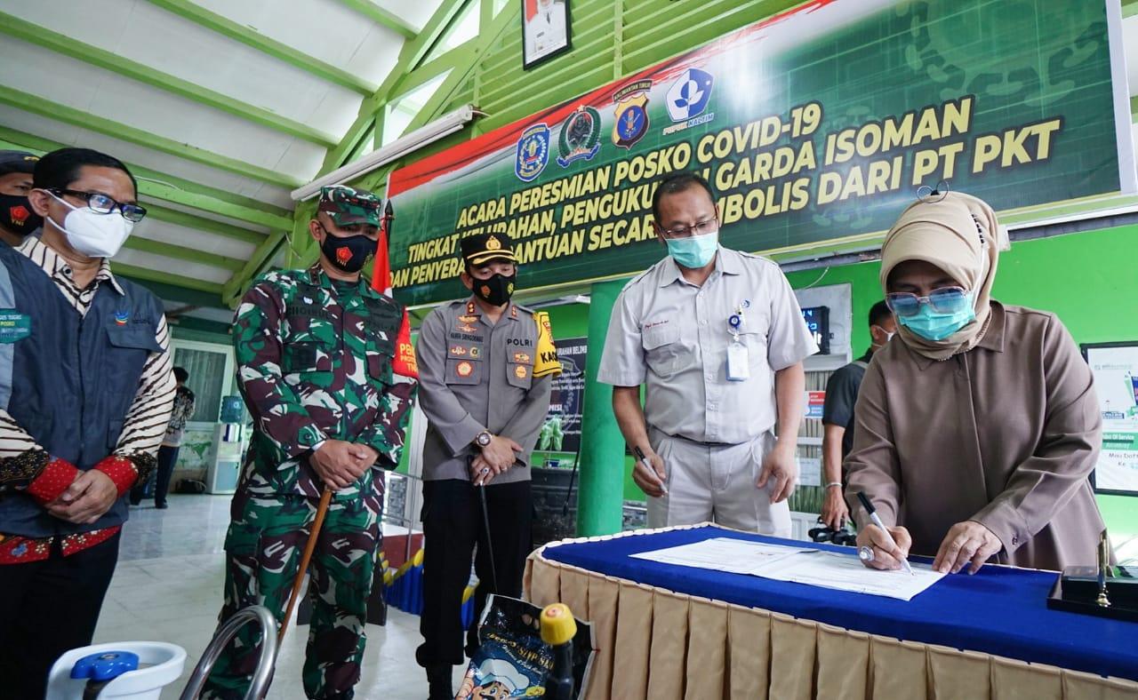 Walikota Bontang Resmikan Posko Kelurahan Siaga dan Relawan Garda Isoman